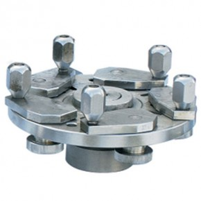 Universal flange for all open and closed wheels with 3,4 or 5 stud holes